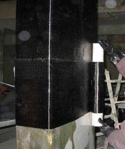 تقویت ستون با الیاف کربن تک جهته-مقاوم سازی تکنوپل