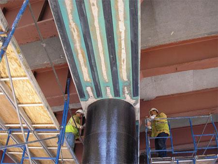 مقاوم سازی پایه پل با استفاده از پوشش frp-مقاوم سازی تکنو پل
