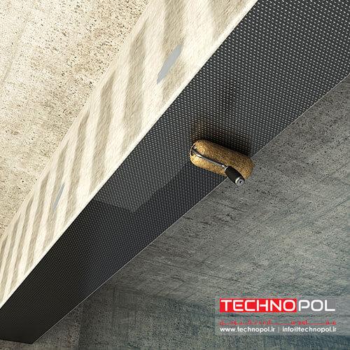 آغشته سازی سطح الیاف FRP به رزین - مقاوم سازی تکنوپل