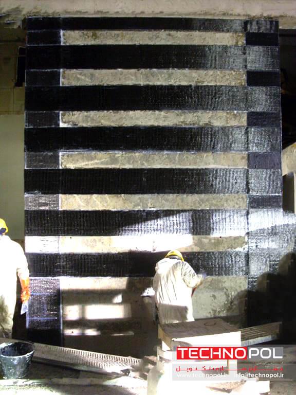تقویت و مقاوم سازی دیوار برشی با استفاده از الیاف کربن CFRP