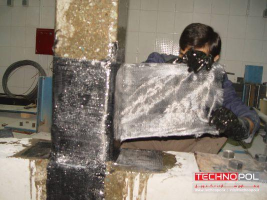 مقاوم سازی ستون بتنی با فیبر کربن CFRP