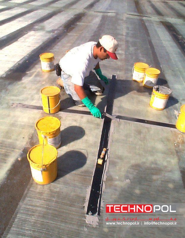 مقاوم سقف سقف بتنی با استفاده از الیاف شیشه و الیاف کربن