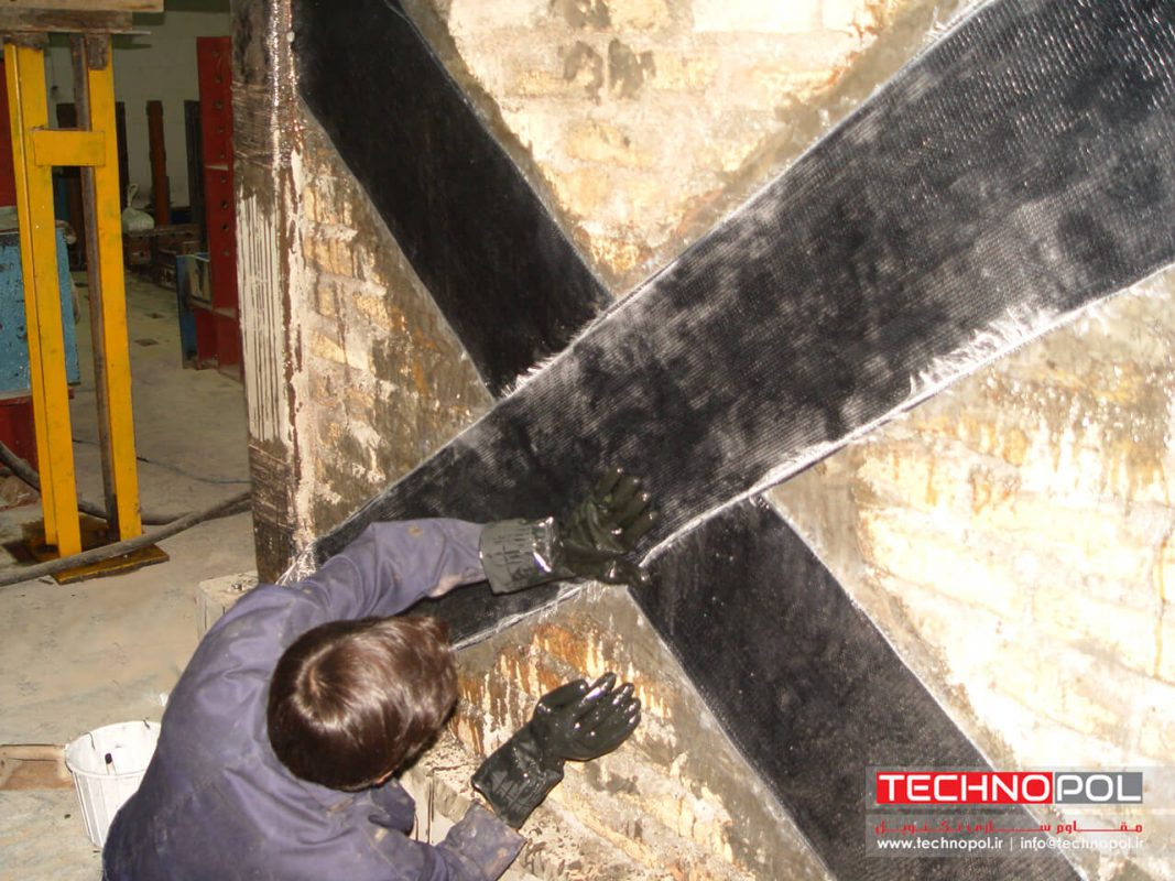 نصب الیاف FRP بر روی دیوار مصالح بنایی