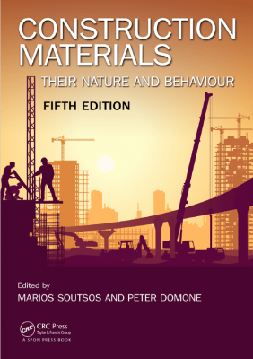 جلد کتاب construction materials
