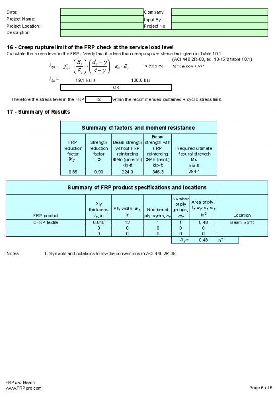نرم افزارمحاسبات FRP pro