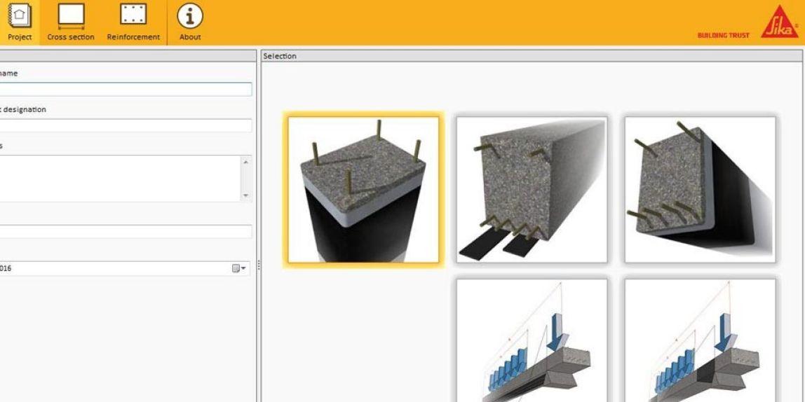 نرم افزار طراحی سیستم FRP کمپانی SIKA