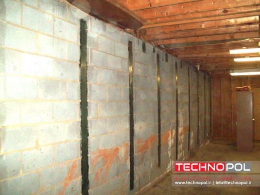 مقاوم سازی دیوار بتنی با الیاف کربن