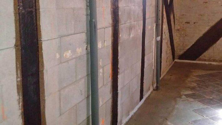 مقاوم سازی دیوار مصالح بنایی ساختمان تجاری با الیاف FRP