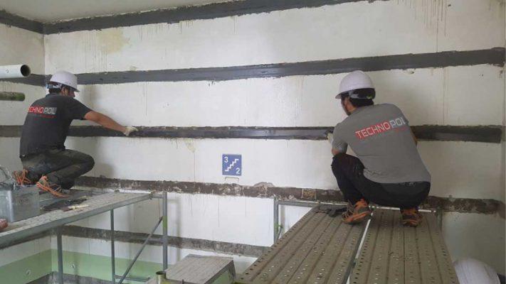 مقاوم سازی دیوار برشی با لمینیت FRP