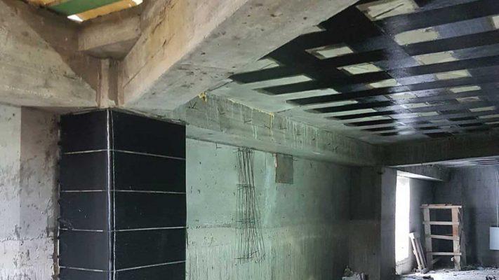 مقاوم سازی ستون و سقف بتنی با الیاف FRP