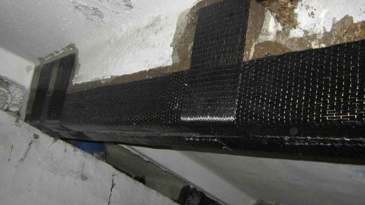 مقاوم سازی خمشی و برشی تیر بتنی پارکینگ تجاری با الیاف FRP