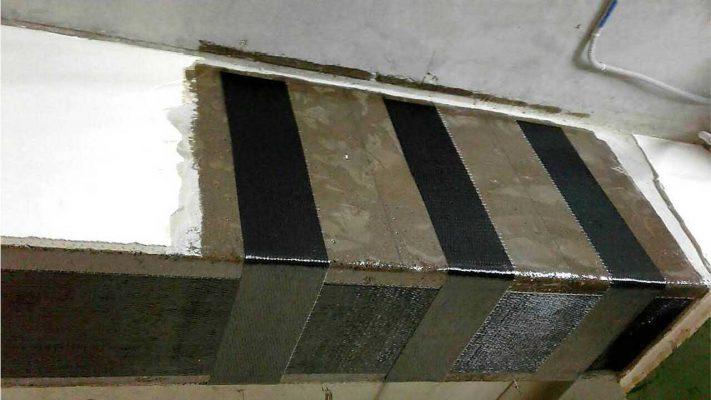 مقاوم سازی خمشی و برشی تیر بتنی ساختمان مسکونی با الیاف FRP