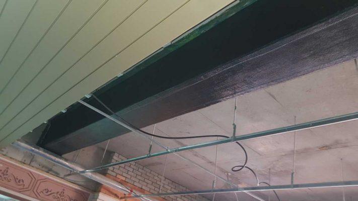 مقاوم سازی برشی تیر بتنی ساختمان مسکونی با الیاف FRP