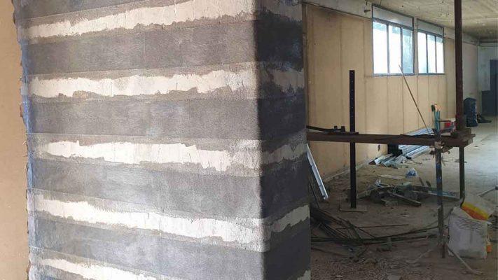 مقاوم سازی دیوار برشی با الیاف FRP